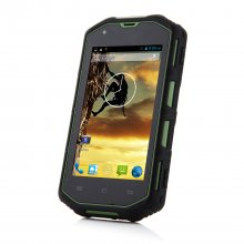 H5 Smartphone IP68 Android 4.2 MTK6572W Dual Core 4.0 Inch 3G Green