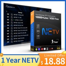1 Year NETV IPTV FULL EUROPE CHANNELS WORLDWIDE SUBSCRIPTION French IPTV Arabic Belgium Dutch Portugal Spain Germany Sweden Norway For Android M3u