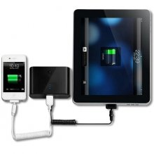 20000mAh Power Bank for iPad/iPhone/Android Phone Black