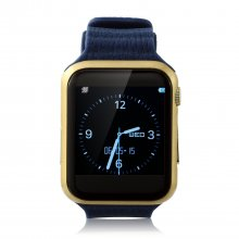 Marknano V9 Smart Watch Phone Bluetooth Watch 1.54 inch Heart Rate Dark Blue&Gold