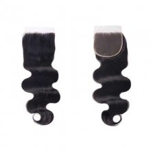 Cube Wig Indian Hair Body Wave 5x5 Lace Closure Free Part With Baby Hair Remy Human Hair Closure