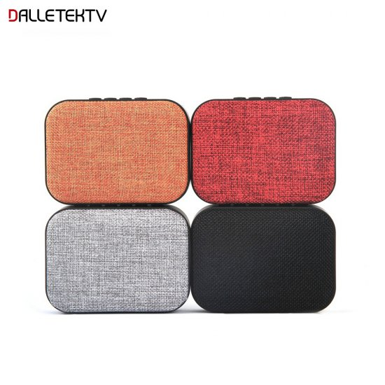 Portable Bluetooth Speaker Made of Textile Rechargeable Wireless Mini Stereo Bass Speaker With Mic Support USB Disk TF Card