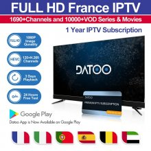 French FHD Belgium Arabic Spain Portugal IPTV DaToo IPTV with HEVC full Sports Channels 3 Day Catch UP VOD films series Support Android m3u enigma2 mag250 TVIP 1Year Free Watch