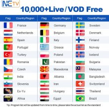 IPTV Subscription X96W Box Swedish Live HD S905W Android TV Box Turkish Netherlands Belgium Spain With Free VOD