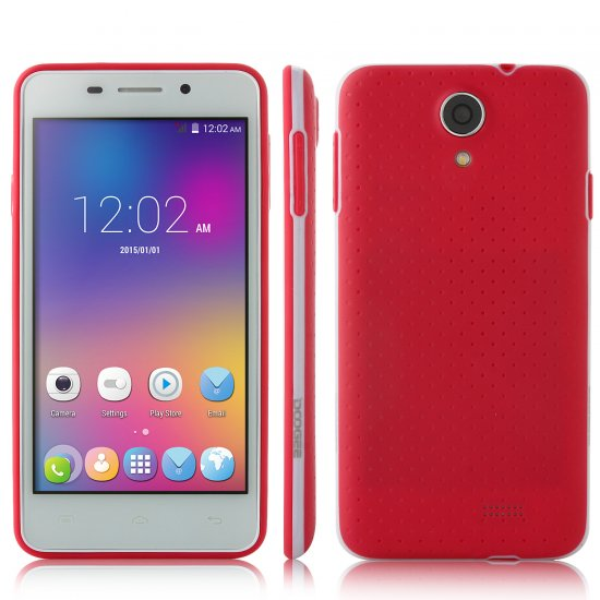 DOOGEE LEO DG280 Smartphone Anti-shock Android 5.0 MTK6582 1GB 8GB 4.5 Inch Red
