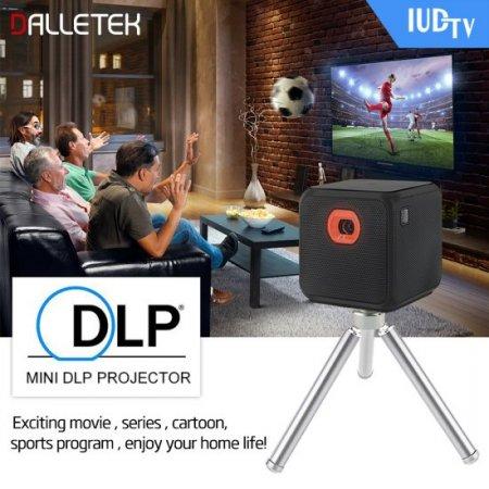 Wireless Mini Projector Android 5.2 Wifi & Bluetooth 4.1 With One Year European IUDTV 1080P Channels.