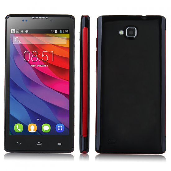 Tengda L960 Smartphone Android 4.4 SC7715 1.2GHz 4.5 Inch 3G Wifi Play Store Black