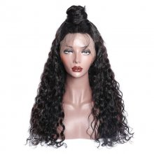150 Density Water Wave Pre Plucked 360 Lace Wigs With Baby Hair Real Raw Indian Remy Human Hair Wigs For Sale