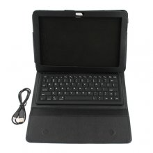 "10.1"" Leather Cover Stand Case Wireless Bluetooth Keyboard for Samsung Galaxy Tab P7500/P7510"
