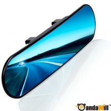Angel AJL-005 11 Inch Curved Surface Panoramic Rearview Clip-On Mirror Blue Mirror out let