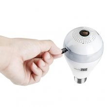 E27 Panoramic Infrared Night Vision Bulb Camera - White 2 million pixels