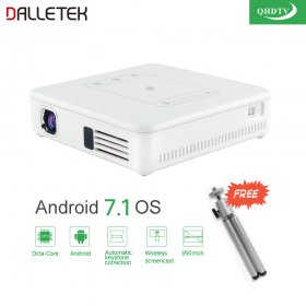 Mini Projector Android 7.1 Syetem With WIFI Bluetooth With One Year Best Arabic QHDTV Channels.