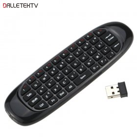 C120 air mouse Rechargeable Wireless remote control Keyboard for Android TV Box C120 2.4Gh fly air mouse work for android tv box