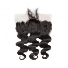 Brazilian Remy Human Hair Body Wave Pre Plucked 13x6 Lace Frontal Closure With Baby Hair