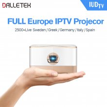 Wireless Beam Mini Projector Android 5.1 System Micro HDMI Video Input 5Ghz WiFi & Bluetooth 4.1 With One Year European IUDTV IPTV Subscription