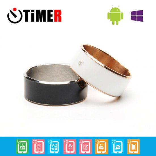 TiMER MJ02 Intelligent Wearable NFC Lord Magic Rings For Android WP System Phones Black