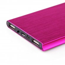 IHT P-18 18000mAh Dual USB Power Bank for iPhone iPad Smartphone - Rose