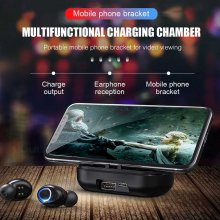 Waterproof Earphones Bluetooth Wireless Earbuds 8D Stereo Mini Headphone Sports HD Call Headsets With Dual Mic Power Bank