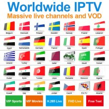 Promotional price for one year worldwide iptv Nederland sweden Norway Denmark finland EX-YU Albania iptv channels etc, Worldwide IPTV in more than 75 countries