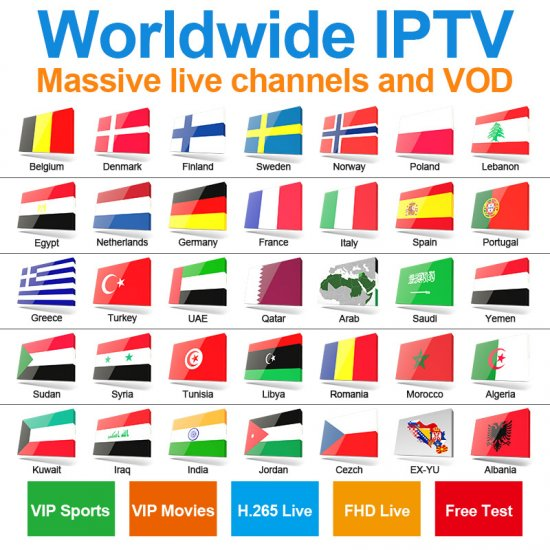 Big Promotional Price for one year worldwide iptv Nederland sweden Norway Denmark finland Italian UK EX-YU Albania iptv channels etc, more than 75 countries global iptv