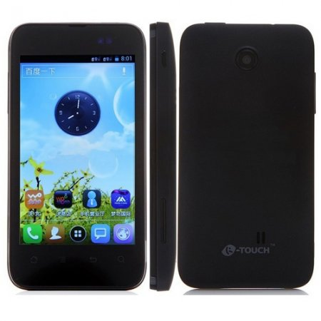 K-Touch W719 Smartphone Android 4.0 MSM7227A 1.0GHz 4.0 Inch 4GB 3G GPS- Black
