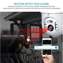 INQMEGA IP Camera WiFi 2MP 1080P Wireless PTZ Speed Dome CCTV IR Camera
