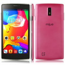 Mijue G6 Smartphone Android 4.4 MTK6572W Dual Core 5.5 Inch Smart Wake 3G Pink