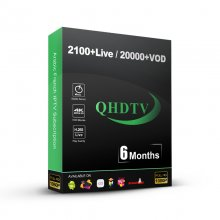 6 MOIS abonnement QHDTV iptv premium IPTV 2100+ Live Channels with 20000+ VOD Movies Series French Arabic Morocco Turkey iptv subscription support Android iptv