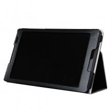 Protective Flip Stand PU Leather Case for Lenvo S80-50 Tablet PC Black