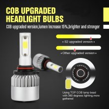 9005 LED Headlight Bulbs, 6500K 8000 Lumens Extremely Super Bright HB3 COB LED Chips Conversion Kit,Xenon White