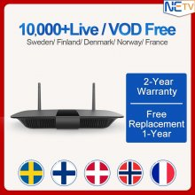IPTV 1 Year Spain Belgium Subscription Code Android 8.1 Smart TV Box IPTV Europe Sweden Italy Greek Germany Norway IPTV Box