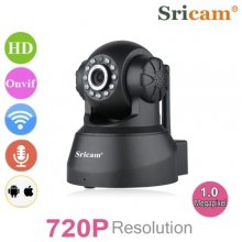 Sricam 720P Wifi Megapixel H.264 Wireless PT CCTV Security IP Camera Black - Natural Black
