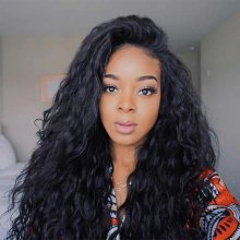 150 Density Malaysian Wet And Wavy Human Hair Wigs Water Wave Lace Front Wigs For Black Women