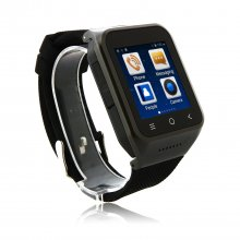 ZGPAX S8 Watch Phone Android 4.4 MTK6572W Dual Core 1.54 Inch 3G 512MB 8GB GPS Black
