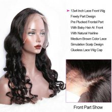 150 Density Loose Wave Lace Wigs Indian Remy Human Hair Lace Front Wigs For Black Women