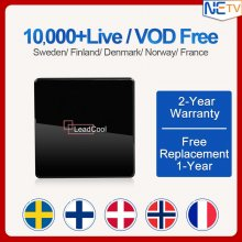 IPTV Android 7.1 Amlogic S905W Quad core 1/8GB Leadcool X TV Box Support WIFI 4K With 1 Year Swedish Albanian Belgium Netherlands IPTV Subscription Set Top Box