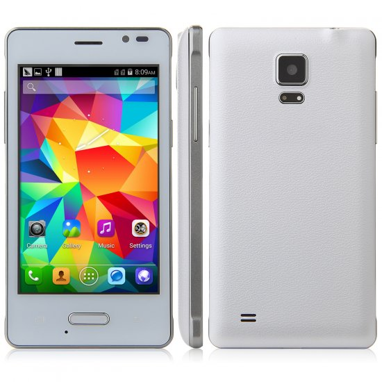 Tengda Q6 Smartphone Android 4.4 MTK6572 3G 4.0 Inch- White - Click Image to Close