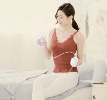 Double Electric breast pumps Powerful Nipple Suction USB Electric Breast Pump with baby milk bottle Cold Heat Pad Nippl