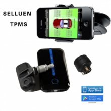 Selluen Wireless Tire Pressure Monitor System(TPMS) for iphone ,Samsung,HTC Built in sensor