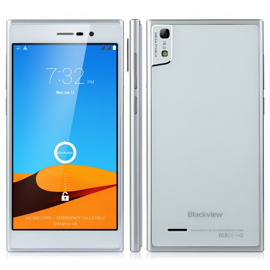 Blackview Arrow V9 Smartphone 5.0 Inch FHD MTK6592 Octa Core 2GB 16GB 18.0MP Silver
