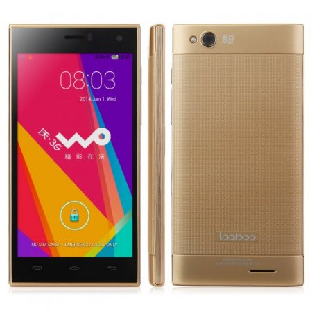 Laaboo W01 Smartphone MTK6582 Quad Core 1GB 8GB 5.0 Inch IPS Screen 8.0MP Camera