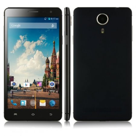 Kingelon V3 Smartphone Android 4.4 MTK6582 Quad Core 5.5 Inch HD Screen 1GB 8GB Black