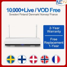 Denmark Netherlands Belgium Spain Albania IPTV Code Subscription R6 Android 8.1 RK3229 H.265 IP TV1 Year Receiver IPTV Box