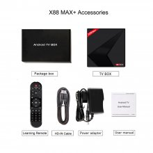 X88MAX+ Android 9.0 TV Box RK3318 Mali-450 4G 32G Support 2.4G /5G dual-band Wifi HDMI 2.0a Media Player for TV