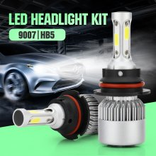 9007 LED Headlight Bulb,30mm Heatsink Base CSP Chips 10000 Lumens Hi/Lo 6500K Xenon White Extremely Super Bright Conversion Kit of 2