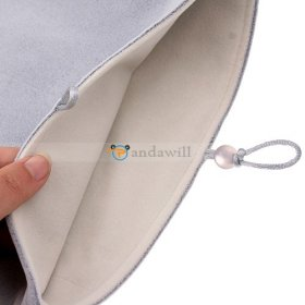 "Gray Soft Cloth Pouch Case for 10"" Tablet PC MID"
