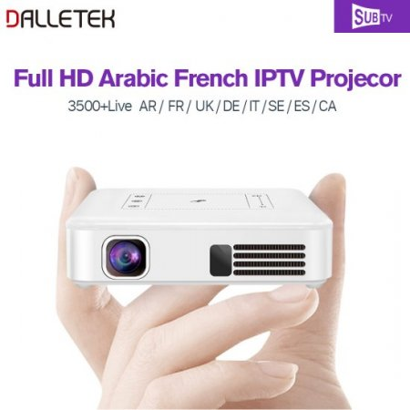 Mini Projector Android 7.1 Syetem With WIFI Bluetooth With One Year Global SUBTV Channels.