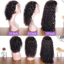 150 Density Brazilian Water Wave 360 Lace Wig Remy Human Hair 360 Lace Front Wigs Pre Plucked With Baby Hair