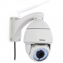 SRICAM SP008 960P H.264 WiFi IP Camera - Light Gray EU Plug