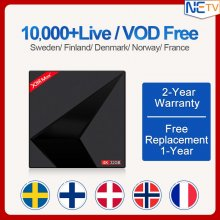 Newest X88Max+ Android 9.0 RK3318 Quad-Core 2.4G /5G Wifi with One year European Sweden Norway Denmark Poland Italy Germany IPTV Subscription